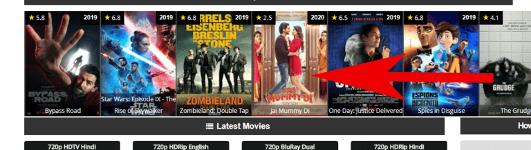Step2. Click On That Movie Banner-extramovies