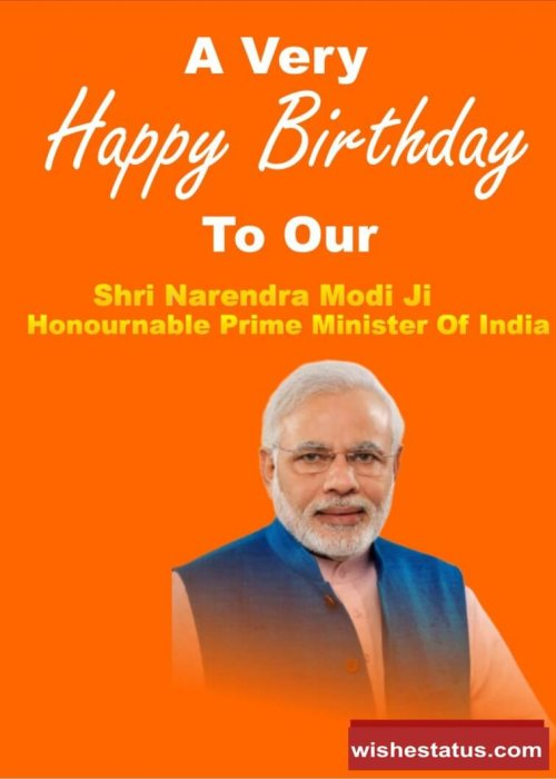 happy birthday wishes to Prime Minister